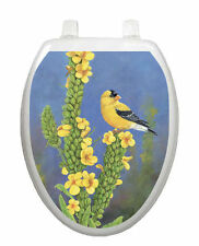 Gold Finch Toilet Tattoo  Removable Reusable Bathroom Decoration