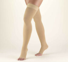 Mediven Comfort 20-30 mmHg OPEN TOE Thigh Highs w/ Lace Silicone Top Band