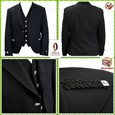 """Argyle jacket and vest Black color Wool Polyester size 38"""" to 52""""//"""