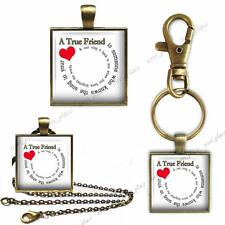A True Friend Knows Song in Your Heart Key Chain Pendant Charm or Necklace