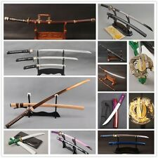 Japanese Samurai Sharp Sword Clay Tempered Wakizashi Functional Tanto Full Tang