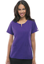 Grape Cherokee Workwear Round Neck Scrub Top 4824 GRPW