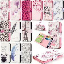 Paint Pattern Magnetic Flip Leather 9 Card Slot Wallet Stand Case For Phone