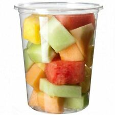 32oz Round Clear Plastic Deli Food/Soup Restaurant Storage Containers Cup w/Lids