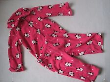 GYMBOREE Girl's Pink Panda Fleece Gymmies Pajamas Size 12-18mos NWT