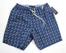 Tommy hilfiger Men navy blue Geometric print swim SHORTS trunk swimwear size S