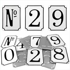 French Vintage Style Pressed White House Number Door plate metal sign plaque 1-9