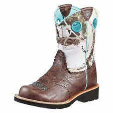 ARIAT KIDS GIRLS FATBABY COWGIRL BOOTS! BROWN CRINKLE SNOWFLAKE 10010259