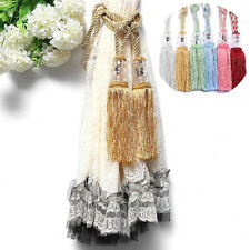 Special 1 Pair Crystal Curtain Rope Tie Back Decorative Tassel Tieback 7 Colours