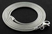 """925 STERLING SILVER 16"""" 18"""" ROUND SNAKE CHOKER CHAIN LINK PENDANT NECKLACE"""