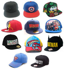 Marvel / DC Comics Baseball Snapback WideBill Cap New Official Batman Superman