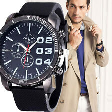 Mens Stylish Luxury Huge Big Dial Silicone Military Quartz Wrist Sports Watches