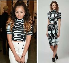 Topshop Geo Pattern Co Ords High Neck Crop Top and Tube Skirt Size 8 NEW RRP £60