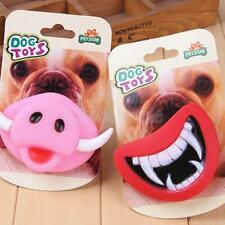 Funny Pet Dog Teeth Pacifier Vinyl Toy Puppy Chew Sound Novelty Dogs Play Toys