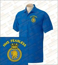 HMS Fearless Embroidered Polo Shirts