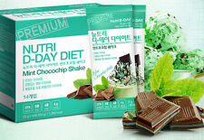 NUTRI D-DAY Mint Chocolate Chip DIET Shake Weight Loss Nutritional Balanced Diet