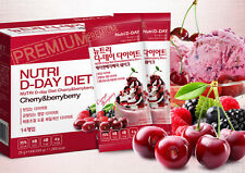 NUTRI D-DAY Cherry & Berry DIET Shake MIX Weight Loss Nutritional Balanced Diet