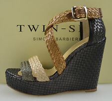 TWIN-SET SANDALO ZEPPA DONNA-WOMAN WEDGE SANDALS N. 37-38-39 MARRONE S3/C/CPS3KD