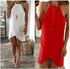 Sexy Women  Summer Sleeveless Chiffon Evening Cocktail Party Short Mini Dress
