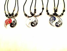 NEW Dragon Yin Yang BEST FRIEND  2 Pendants Necklace Set BFF Friendship Ying