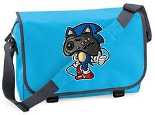 BNWT SONIC THE HEDGEHOG SEGA JOYPAD HEAD  MESSENGER SHOULDER BAG SCHOOL