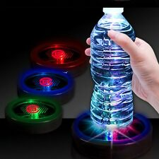 Colorful Changing LED Light Bottle Cup Mat Coaster For Clubs Bar Party One Piece