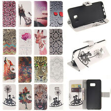 Luxury Flip Painted  Wallet Card Slot PU Leather Stand Case For Samsung Galaxy