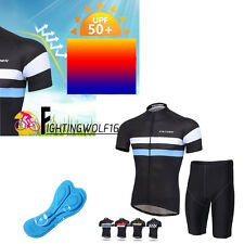 Team Cycling MTB Jersey Suits Wear Stes Bike Short Sleeve 3D Paded Pant +T Shirt