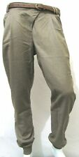 LADIES CHINO BEIGE BELTED CUFFED PANTS TROUSERS 6-14