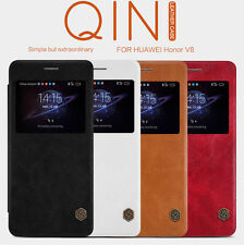 HOT Nillkin Qin Window Classic Flip Leather Matte Case Cover For HUAWEI Honor V8