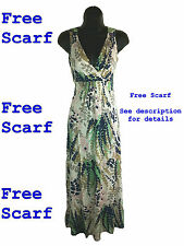 New Ladies Boden Jersey Summer Calf Length Maxi Dress in Ivory (159)