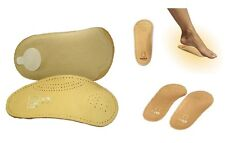 TACCO 650 3/4 Elastic Orthotic Arch Support Leather Shoe Insoles Inserts