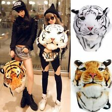 New Unisex Animal Style Lifelike 3D Tiger Head Bag Knapsack Backpack Women KECP