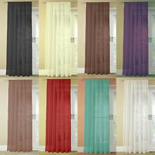 Slot Top Pair (2 Panels) Of Quality Woven Voile Net Curtain Panels FREE UK POST