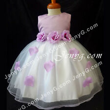 #TFP9 Baby Wedding Flower Girl Junior Bridesmaid Formal Birthday Gown Dress