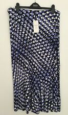 M&S CLASSIC SIZES 16 20 NAVY MIX STRETCH FLARED SKIRT TAGS FREE POSTAGE