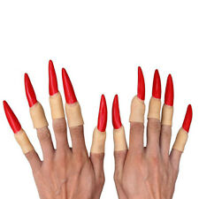 Cool 10PCS Horror Witch Finger Nails Halloween Props Fancy Dress Cosplay Costume