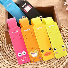 Korean Silicone Travel Luggage Tags Luggage Suitcase Bag Labels Name Address