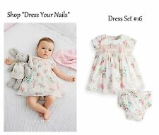 Baby Dress Set with Pants - Girls Smock Summer Babies Cotton 10/12 + 13/18 mths