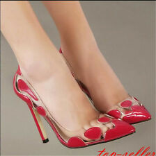Fashion Women's Pointy Toe Block High Heels Party Wedding OL Court Shoes size