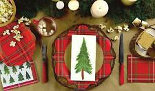 C.R. Gibson Christmas Holiday Dining Party Paper Napkins – Plaid Forest