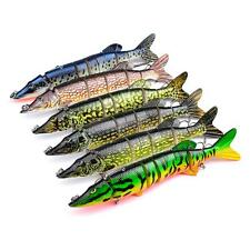 1 x Multi-section 8 Jointed Fishing Lure Crank Bait Swimbait Bass Shad Dace