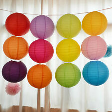 "Multicolor Chinese Paper Round Lanterns Wedding Party Xmas Decor 10"" 12"" 16"" Hot"