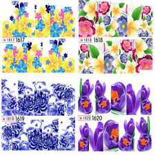 Nail Art Water Transfer Decals Stickers Wraps Flowers Gel Polish