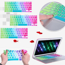 """Colorful Silicone Keyboard Cover Skin For MacBook Pro Air Mac Retina 13"""" 15"""" US"""