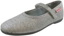 Cienta 96013 Girl's Sparkle Silver Strap Mary Jane Flat Shoes