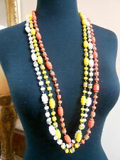 J CREW Resin & Crystal Bead Necklace NWT YELLOW, MANGO OR WHITE #95301