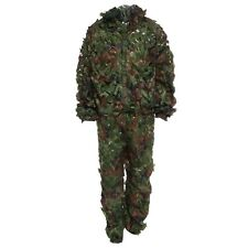 3D Bionic Leaf Camouflage Jungle Hunting Ghillie Suit Set Woodland Sniper