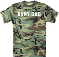 Mens Army Dad Cool Hunting Military Full Camouflage Print T shirt (Camo)