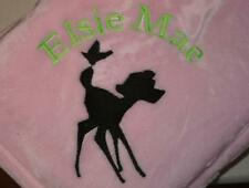 Personalized Baby Blanket Embroidered Fleece Tahoe for Girl or Boy Deer